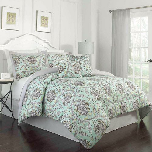 Traditions by Waverly Happy Festival 6-Piece Bedding Comforter Set, Aegean