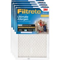 Filtrete 20x25x1, Ultimate Allergen, Virus and Bacteria Reduction HVAC Furnace Air Filter, 1900 MPR, Pack of 4 Filters