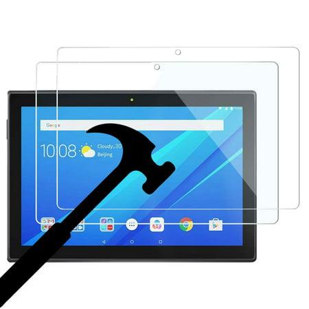 [2 Pack] Lenovo Tab E10 (TB-X104F) Glass Screen Protector, EpicGadget Bubble Free Anti Fingerprint Anti Scratch 9H Hardness HD Tempered Glass Screen Protector for Lenovo Tab E 10 Inch 2018