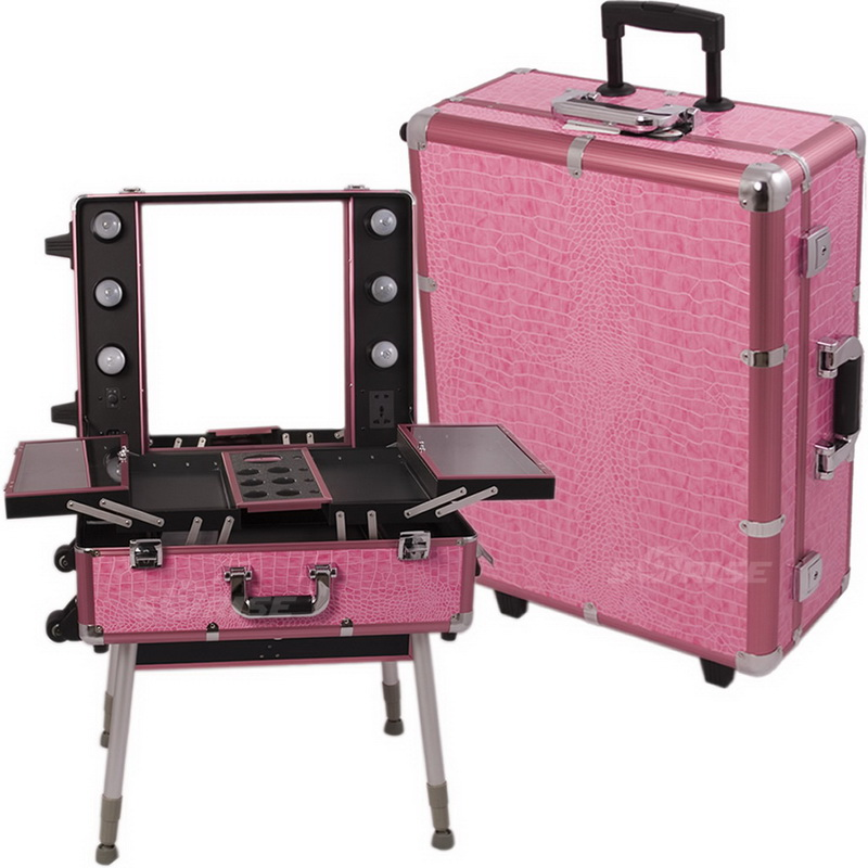 Sunrise C6010CRPK Pink Croc Studio Case W/Light -C6010