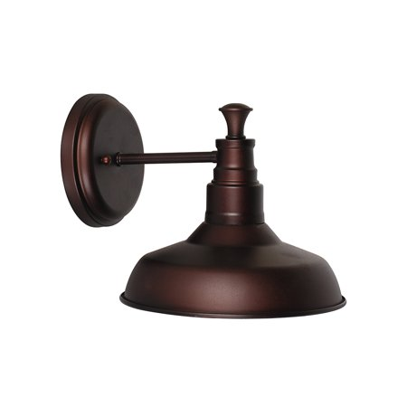 Design House 519900 Kimball 1-Light Wall Sconce, Modern Design with Modern Shade, Coffee Bronze