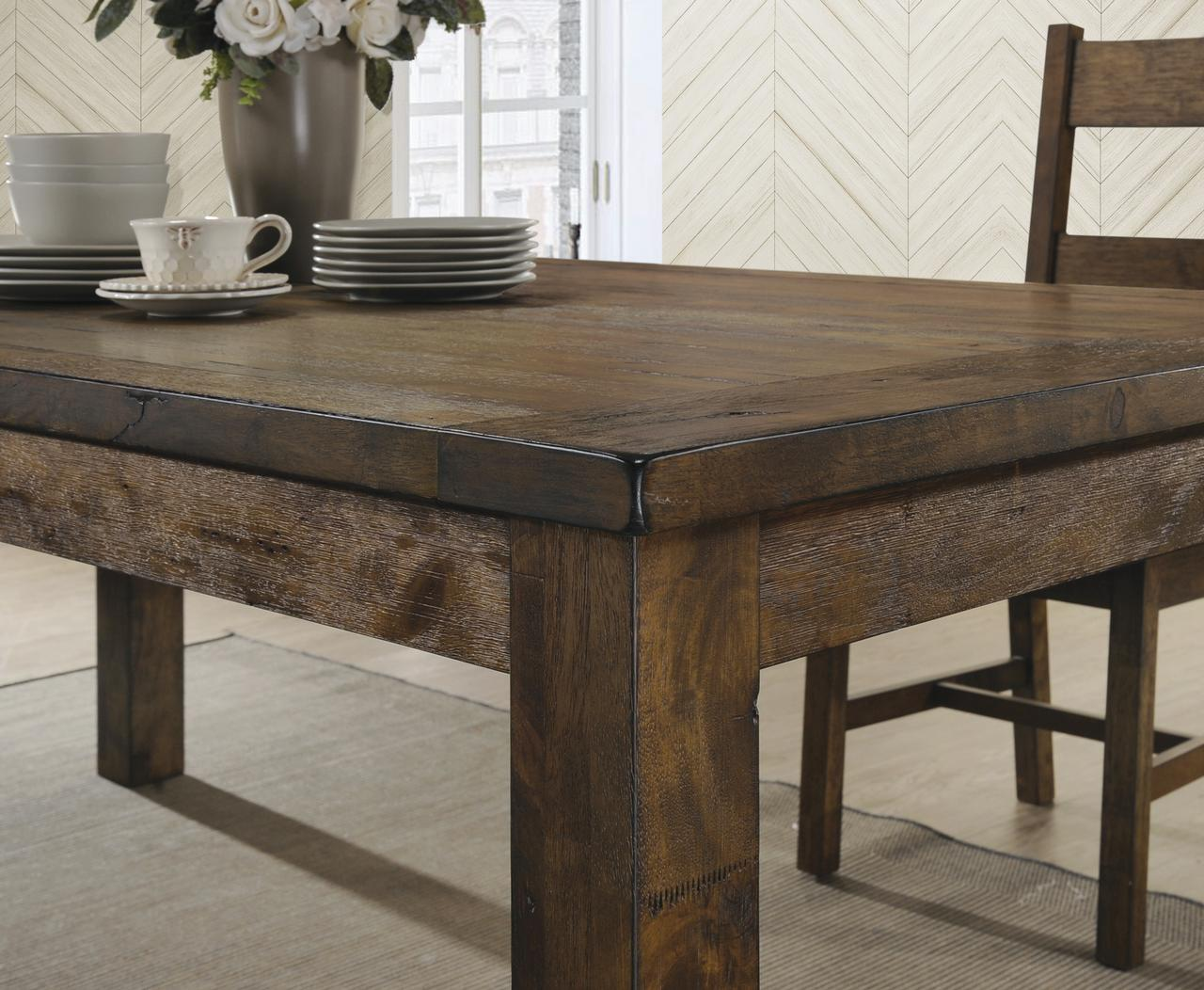 Coaster Company Coleman Rustic Dining Table Golden Brown