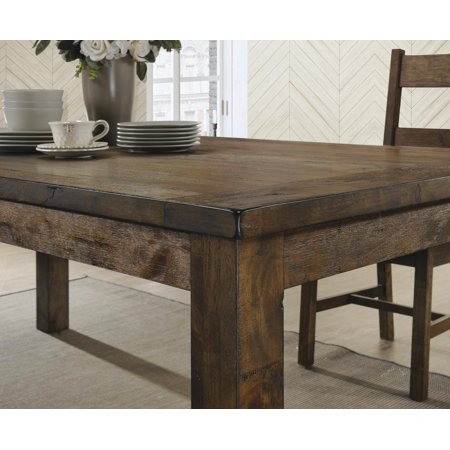 Coaster Company Coleman Rustic Dining Table, Rustic Golden Brown ()