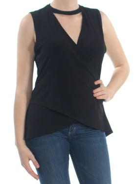29de5d73e12d72 Product Image RACHEL ROY Womens Black Choker Sleeveless V Neck Top Size: XL