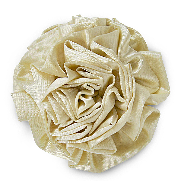 Expo Int'l Rolled Fabric Flower Brooch and Hairclip