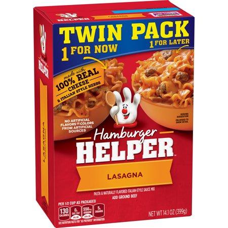 Betty Crocker Hamburger Helper Lasagna Pasta And Italian Style Sauce Mix Twin Pack  14 1 Oz
