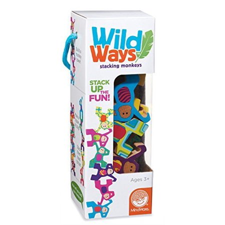 Wild Ways Stacking Monkeys, TOYS THAT TEACH: Wild Ways Stacking Monkeys from MindWare is a great way to teach your toddler the basic understanding and.., By MindWare (Mindware Toys)