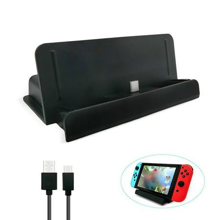 Black Dock Station Cradle - Charging Dock USB Type C Charging Dock Station Cradle Stand For Nintendo Switch