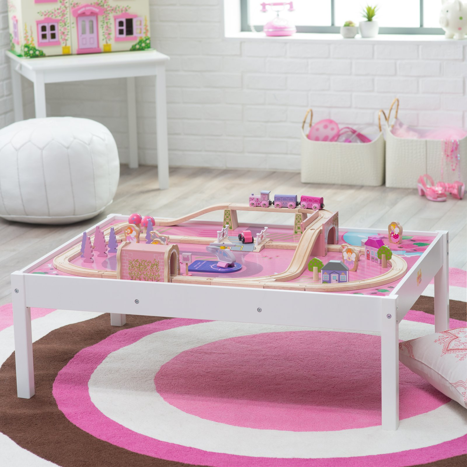 Bigjigs Wooden Magical Train Set and Table & Bigjigs Wooden Magical Train Set and Table - Walmart.com