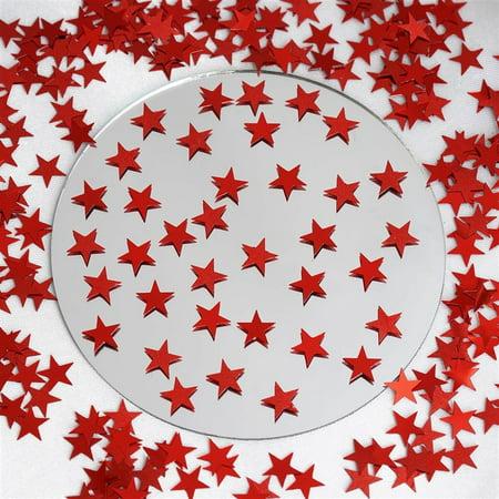 Red Twinkling Metallic Foil Star Confetti Sprinkles For Party 300pcs/pk 2PK