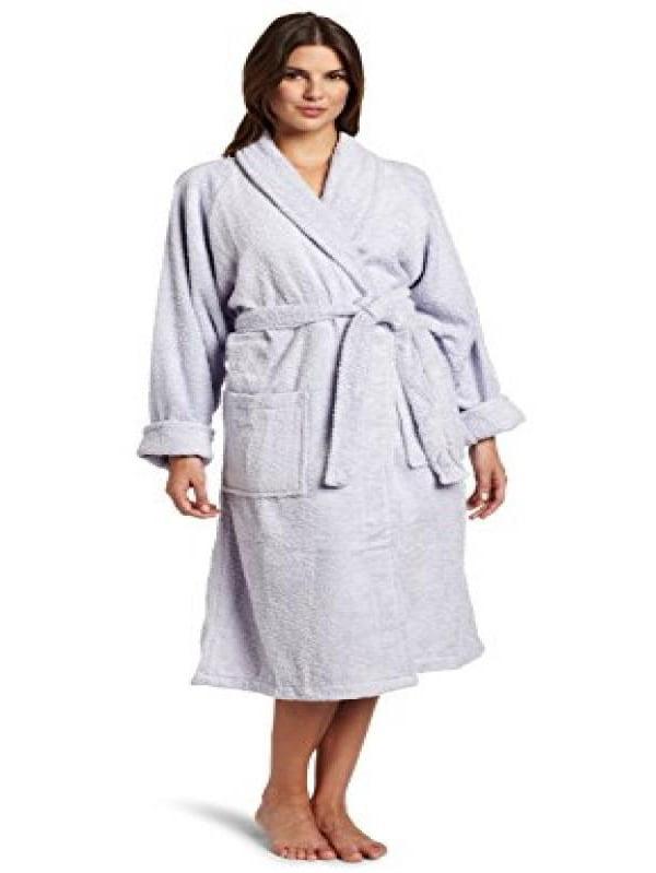 Superior Hotel & Spa Robe, 100% Premium Long-Staple Combed Cotton Unisex Bath Robe for Women and Men - Small, Lilac