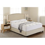 Cheer Collection Microplush Luxurious Alternative Down Mattress Pad; Topper and Protector
