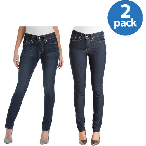Signature by Levi Strauss & Co. Totally Shaping Skinny Jeans 2pk Value Bundle