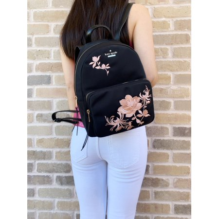 Kate Spade Dawn Place Embellished Small Noria Backpack Black Pink