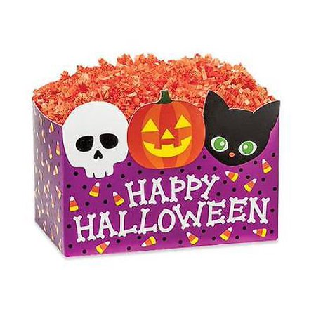 2 Unit Small Happy Halloween Basket Boxes 6-3/4 x 4 x 5