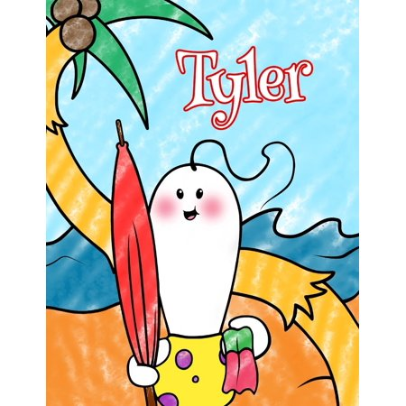 Color Beach (Tyler: Personalized Children's Coloring Book, Ima Gonna Color My Day at the Beach)