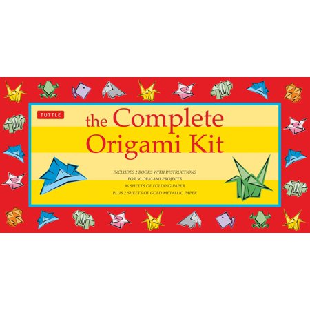 The Complete Origami Kit : Kit with 2 Origami How-to Books, 98 Papers, 30 Projects: This Easy Origami for Beginners Kit is Great for Both Kids and Adults (Easy Halloween Project)