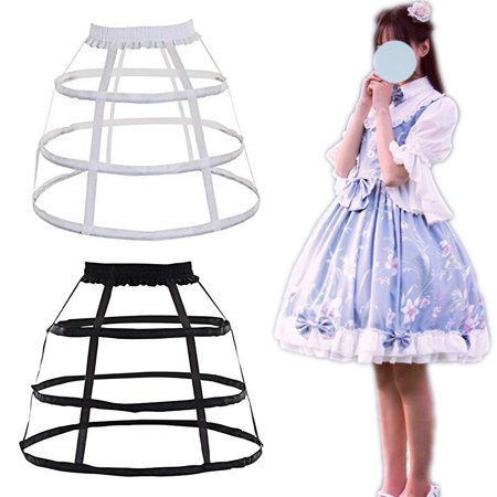 Aimeeli 3 Hoop Full Dress Crinoline Cage Lace Bustle Lady Wedding Gown Pannier Petticoat Bridal Wedding Gown Petticoat