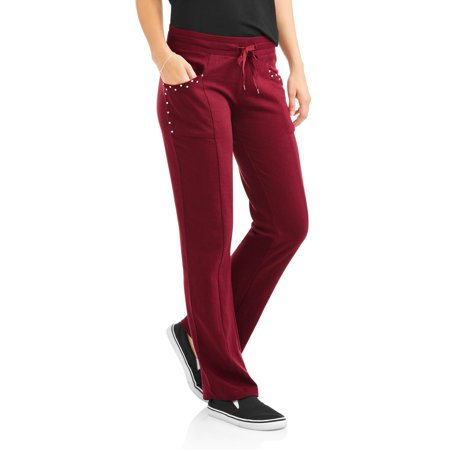 Thrill Women's Cozy Knit Pants with Embellished Bling Detail