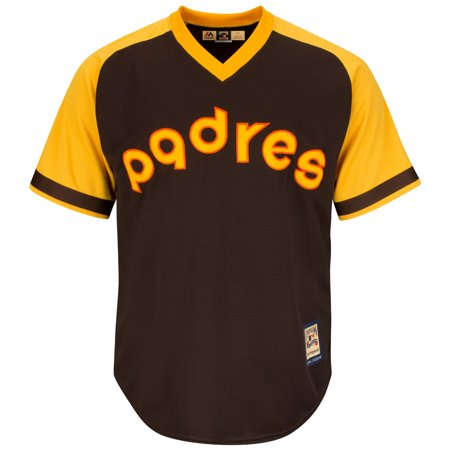 San Diego Padres Cooperstown Majestic Cool Base Retro Brown Jersey by