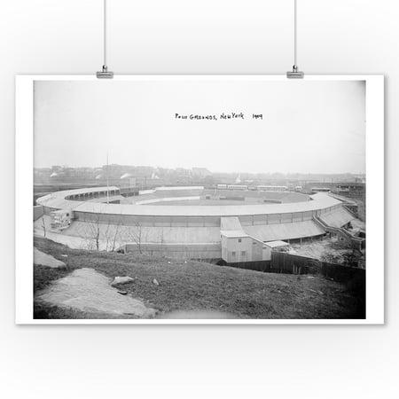 Polo Grounds, NY Giants, Baseball Photo (9x12 Art Print, Wall Decor Travel Poster) - Ny Giants Decor