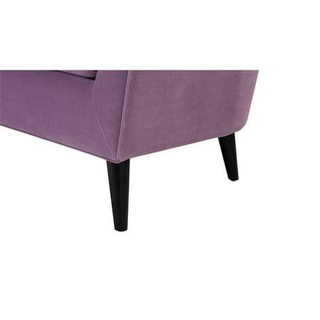Lia Mid-Century Barrel Accent Chair Lavender - image 7 de 10