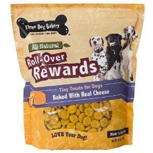 Three Dog Bakery Itty Bitty Bones Cheese Limited Ingredient Dry Dog Treat, 32 Oz
