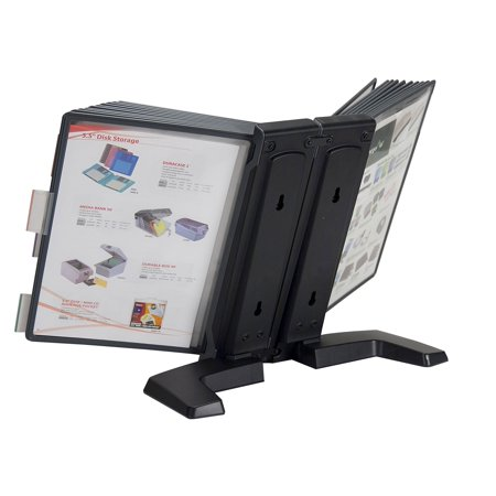 Weighted Desktop Reference Organizer with 20 display panels, displays up to 40 (Tarifold Modular Reference Display)