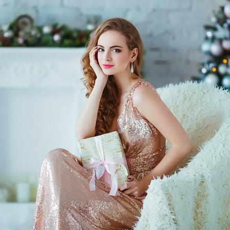 702e7e1542658 Ever-Pretty - Ever-Pretty Womens Sparkly Sequin Evening Gala Cocktail Party  Dresses for Women 07109 Rose Gold US10 - Walmart.com