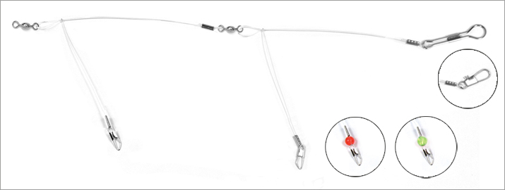 """Details about  /36 Count Hurricane Double Drop Tangle Rig Tangle Free Leader 29/"""" 90lb Test"""