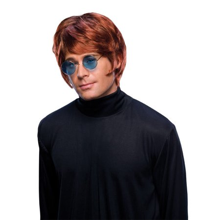Adult Mens Costume Short Brown Pop Star Beatle Mop Wig