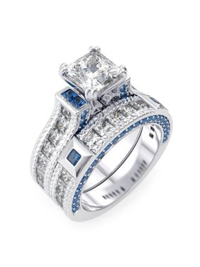 Silver Sterling Couture All Wedding Engagement Rings Walmart Com