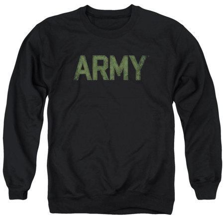 - Army Camoflauge Green Type Black Adult Crewneck Sweatshirt