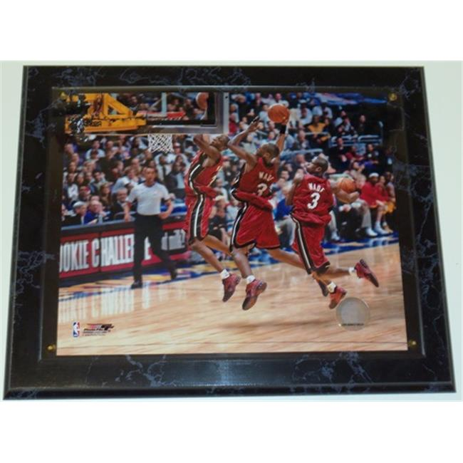 Dwyane Wade 8X10 Inch Miami Heat Photo With A 10. 5 X 13 Inch Wood Wall Plaque