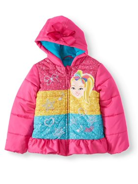 JoJo Siwa Coloblock Ski Jacket with 3D Bow (Little Girls)