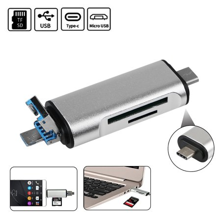 5 In 1 USB 3.1 Type C SD TF Micro SD Card Reader USB C Micro USB Android Phone 4 In 1 Cards Reader