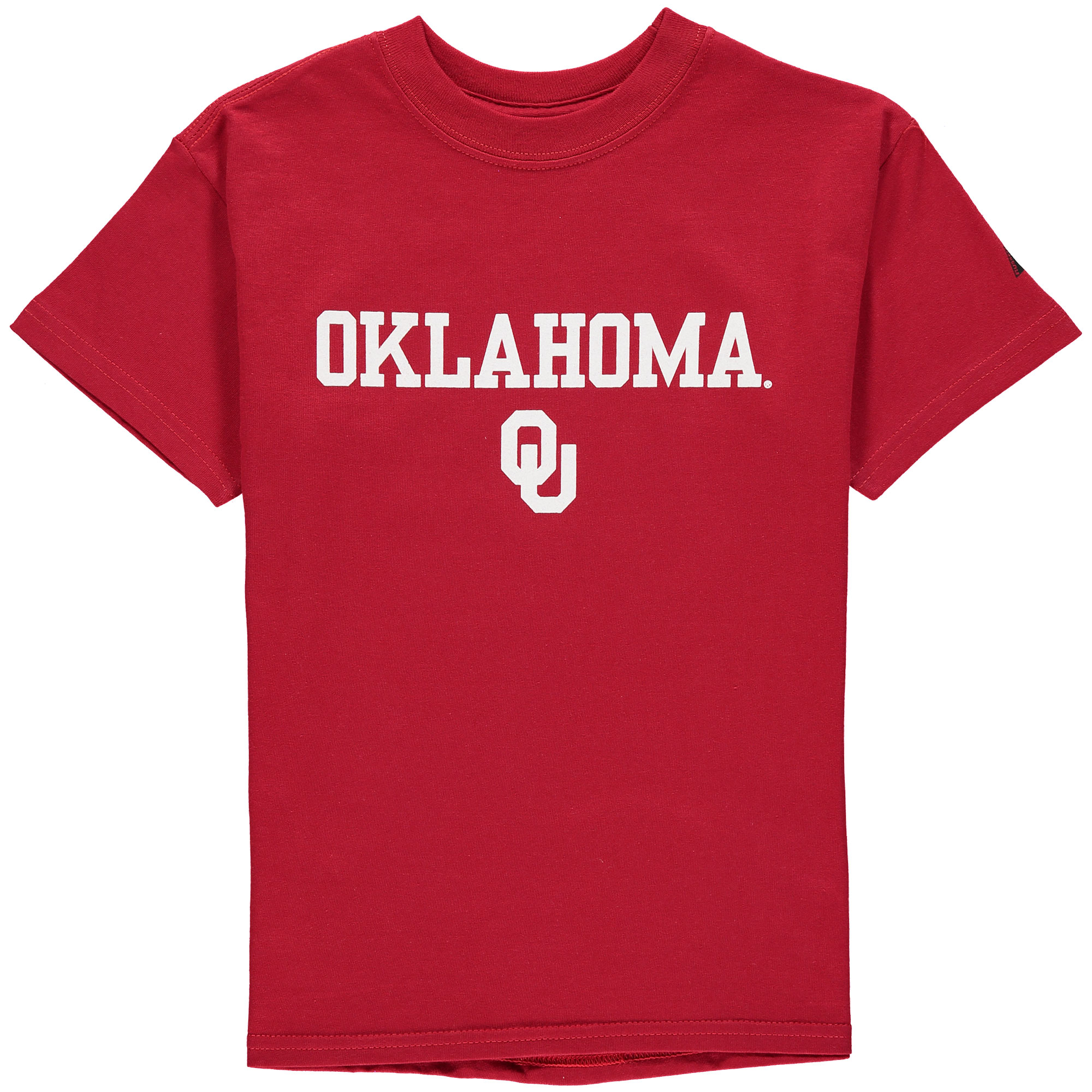 Youth Russell Crimson Oklahoma Sooners Team 1 Crew Neck T-Shirt