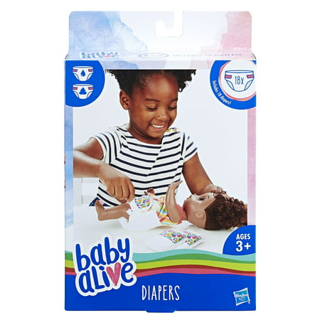 Baby Alive Doll Diapers Refill Pack - 18 pack of diapers