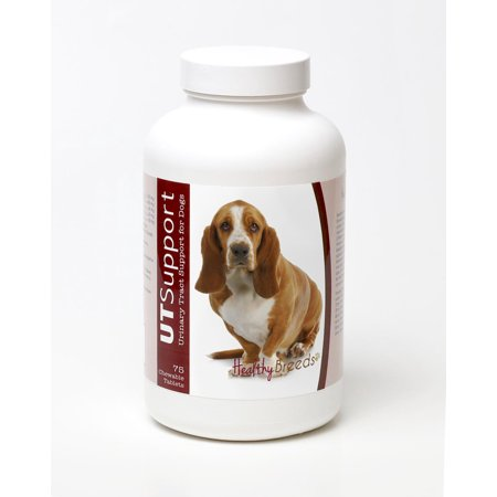 Healthy Breeds Dog Urinary Tract Support Cranberry Chewables for Basset Hound 75 Count