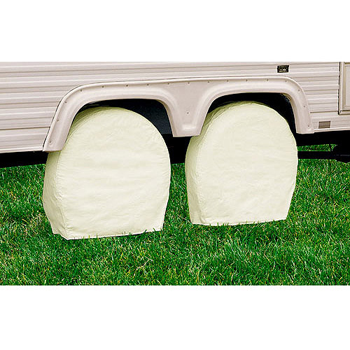 Classic Accessories RV Wheel Storage Covers (2-pack), White
