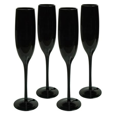 Artland Midnight Flute Glass - Set of 4