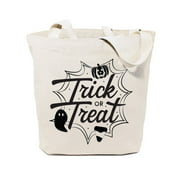 The Cotton & Canvas Co. Trick or Treat Reusable Halloween Tote Bag, Kid's Candy Sack