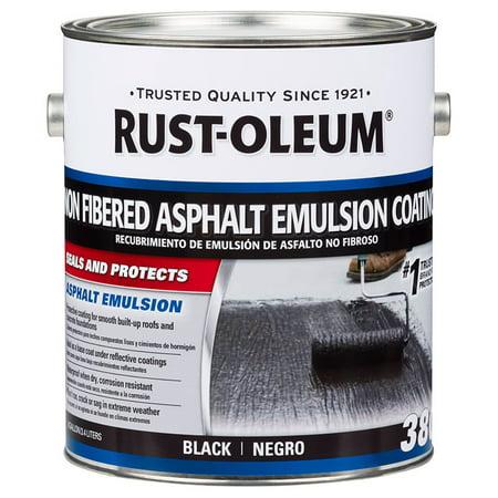 Emulsion Paint - Rust-Oleum 301908 380 Non fibered Asphalt Emulsion Coating black gal