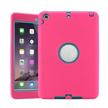 Anti-Shock Armor Military Heavy Duty Case Cover kids For iPad Mini 1 2 3-Pink