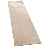 """Collections Etc Skid-resistant Extra-wide Extra Long Runner, 28""""X90"""", Sand"""
