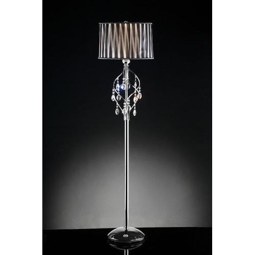 "OK Lighting Lady Crystal Floor Lamp, 63"" by Raidmax"