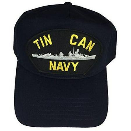 USN TIN CAN NAVY HAT CAP NAVY BLUE DESTROYER DDG DD SHIP SAILOR VETERAN (Sailor Caps For Sale)