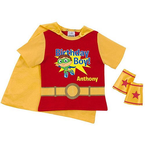 Personalized Super Why! Birthday Red Super Toddler Boy Tee