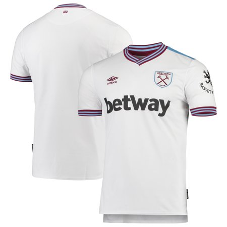 West Ham United Umbro 2019/20 Away Replica Jersey - White West Ham Home Jersey