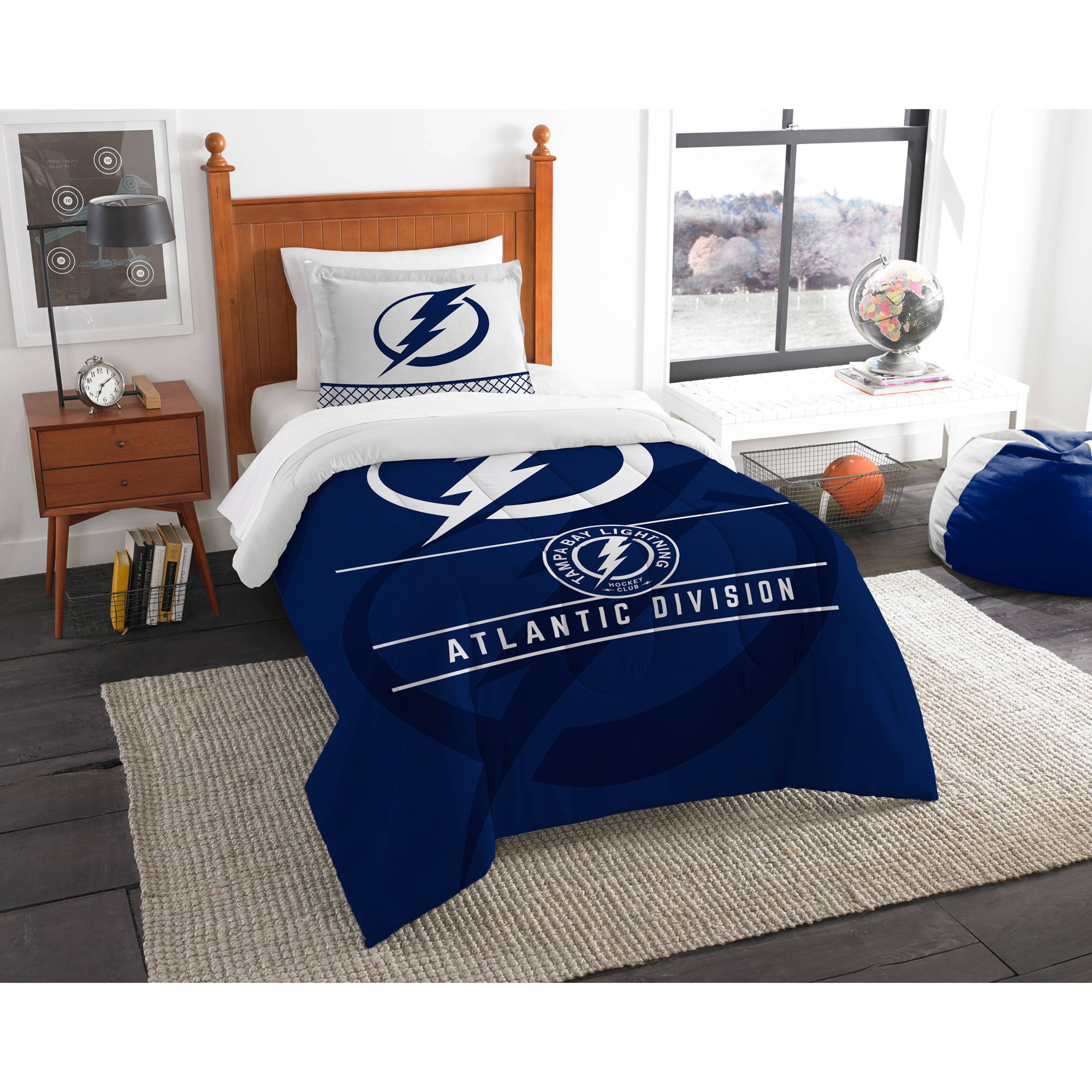 "NHL Tampa Bay Lightning ""Draft"" Bedding Comforter Set"